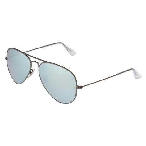 Ray-Ban Slnečné okuliare 'Aviator'  strieborná