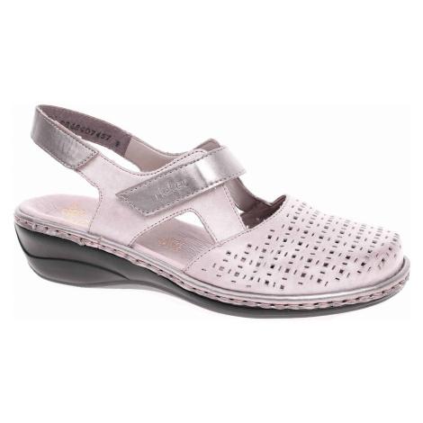 Dámské sandály Rieker 47775-42 grau kombi 47775-42