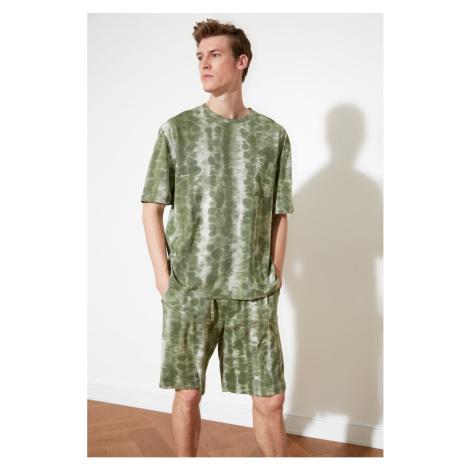Trendyol Haki Batik Knitted Pyjama Set
