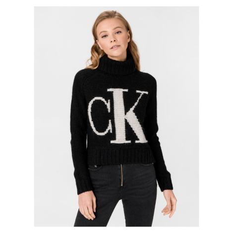 Logo Svetr Calvin Klein Čierna