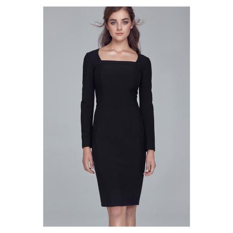Čierne šaty S125 Nife