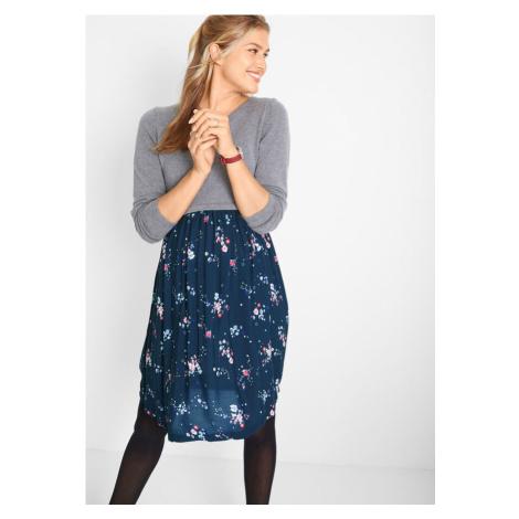 Materské šaty z pleteniny a viskózy bonprix