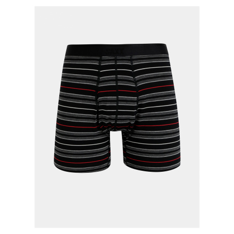 Čierne pruhované boxerky SAXX