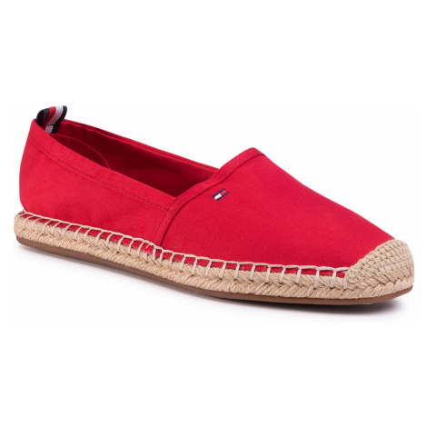 Espadrilky TOMMY HILFIGER - Basic Tommy Flat Espadrille FW0FW04827 Primary Red XLG