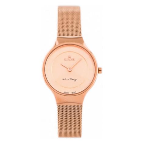 Dámske hodinky ružovo-zlatej farby G.Rossi 11919B-4D2 Gino Rossi