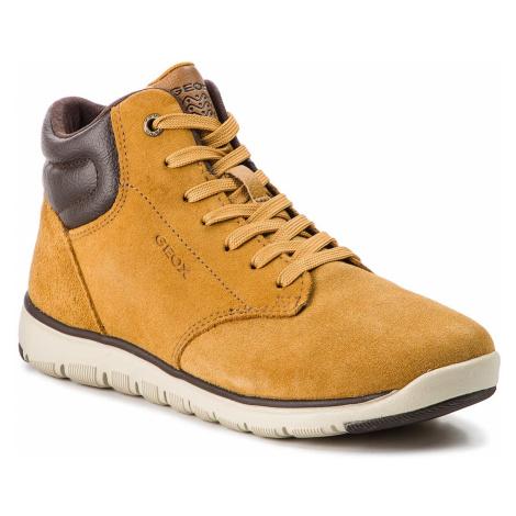 Outdoorová obuv GEOX - J Xunday B. A J843NA 022BC C2286 D Dk Yellow/Brown