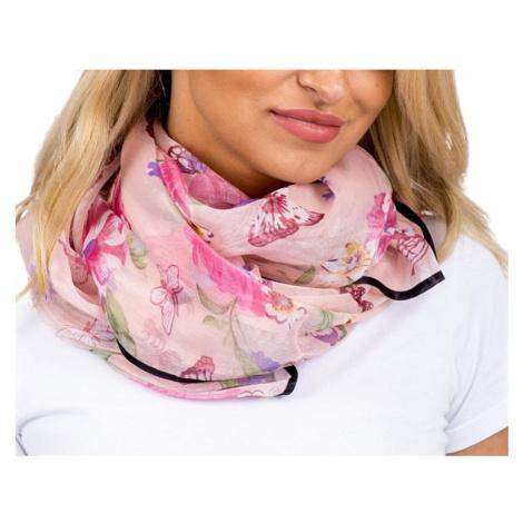 Svetlo-ružový dámska šatka s motýle