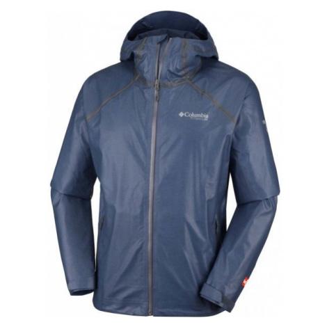 Columbia OUTDRY EX REIGN JACKET tmavo modrá - Pánska nepremokavá bunda