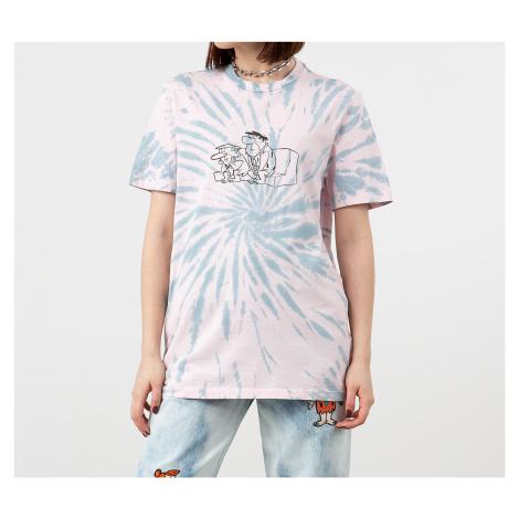 Lazy OAF x The Flintstones Tie Dye Tee Pink/ Grey