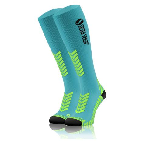 Sesto Senso Unisex's Running High Knee Socks Turquoise