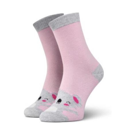 Ružové dievčenské ponožky