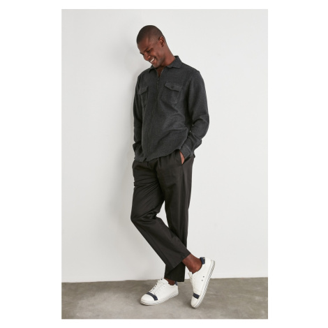 Trendyol Wide Cut Trousers with Black Men's Back Elastic