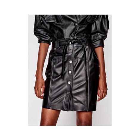 Rage Age Kožená sukňa Ngine 2 Čierna Regular Fit