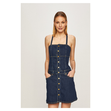 Pepe Jeans - Rifľové šaty Flame