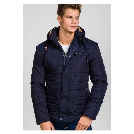 Tmavomodrá pánska zimná bunda Bolf EX1673 EXTREME