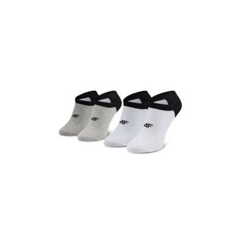 4F Súprava 2 párov členkových pánskych ponožiek H4L21 SOM001 Biela