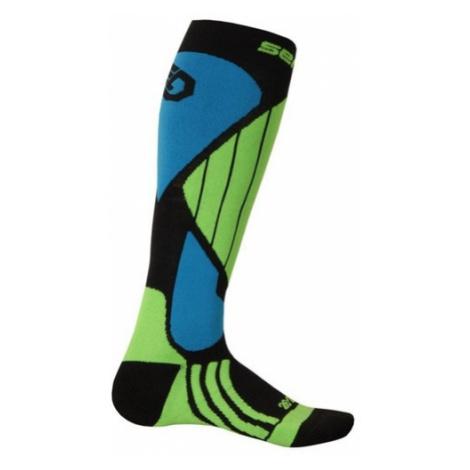 Ponožky Sensor Snow Pro čierna/zelená/modrá 14200064