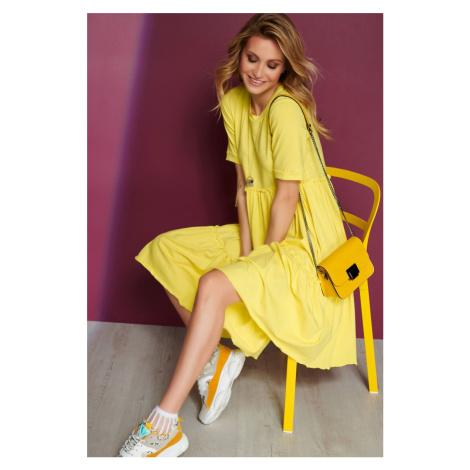 Žlté šaty M565 Makadamia