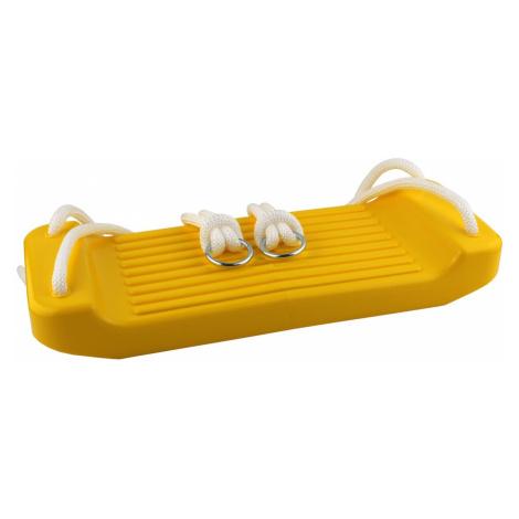 Detská hojdačka CHEVA rovná plast - žltá