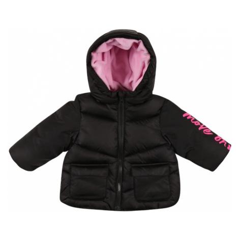 UNITED COLORS OF BENETTON Zimná bunda  čierna / ružová
