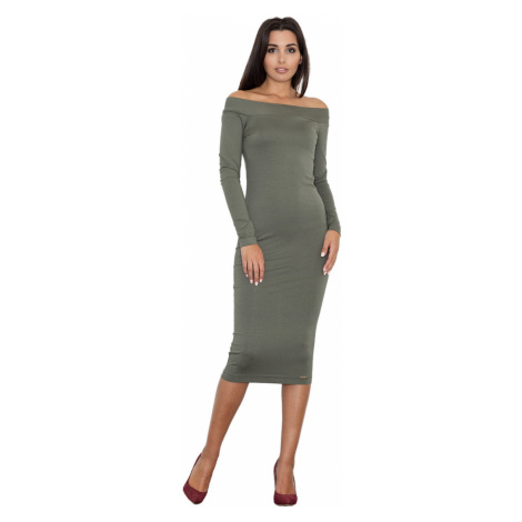 Figl Woman's Dress M558 Olive