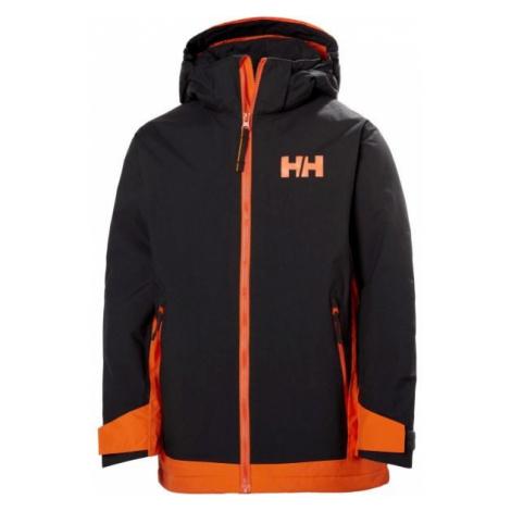 Helly Hansen JR HILLSIDE JACKET čierna - Detská lyžiarska bunda