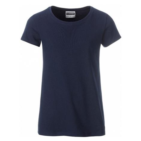 James & Nicholson Klasické dievčenské tričko z biobavlny 8007G