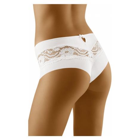 Nohavičky brazilského strihu s čipkou Nina biele Wolbar