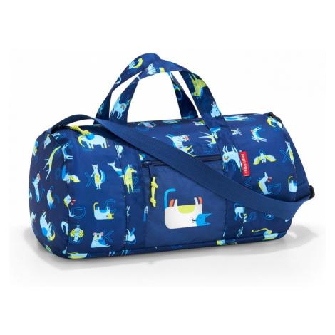 Skladacia taška Reisenthel Mini Maxi Dufflebag S Kids Abc Friends Blue