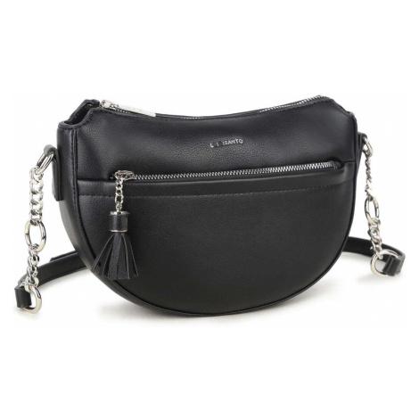 LUIGISANTO Black semicircular messenger bag