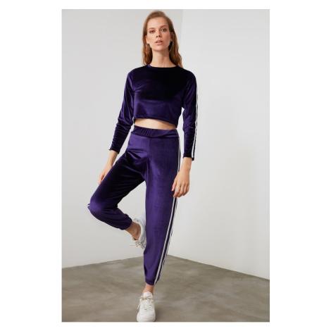 Dámske nohavice Trendyol Velvet