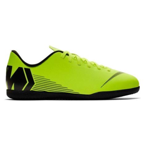Nike JR MERCURIALX VAPOR 12 CLUB IC svetlo zelená - Detské halovky