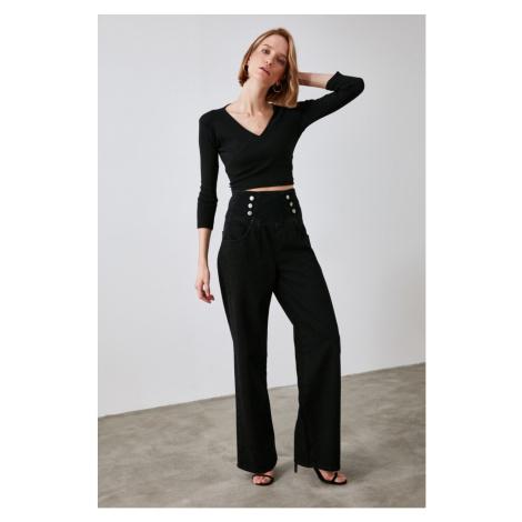 Trendyol Super High Waist Wide Leg Jeans WITH Black Button DetailING