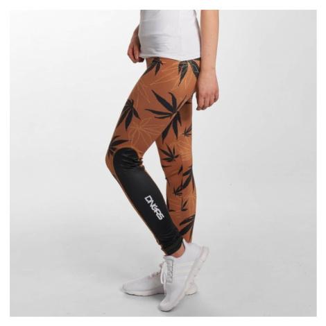 Dangerous DNGRS / Legging/Tregging Weedo in brown - Veľkosť:XS