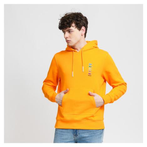 LACOSTE Lacoste x Polaroid Cotton Fleece Sweatshirt oranžová