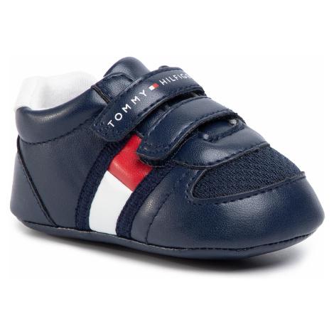 Sneakersy TOMMY HILFIGER - Velcro Shoe T0B4-30191-0271 Blue/White X007
