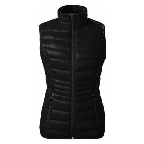 Dámska prešívaná vesta, čierna