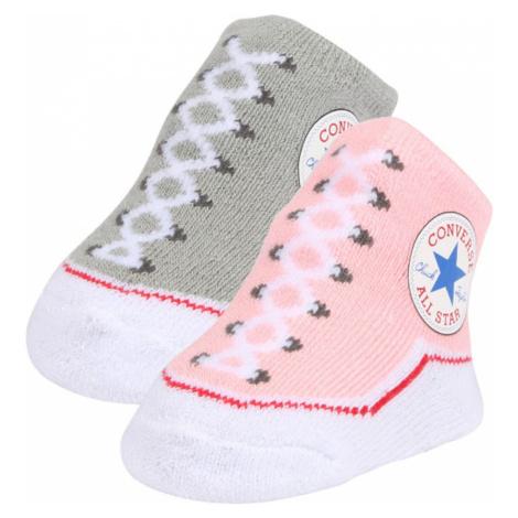 CONVERSE Ponožky 'Chuck Taylor'  ružová / sivá / zmiešané farby