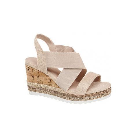 Ružové sandále na klinovom podpätku Claudia Ghizzani