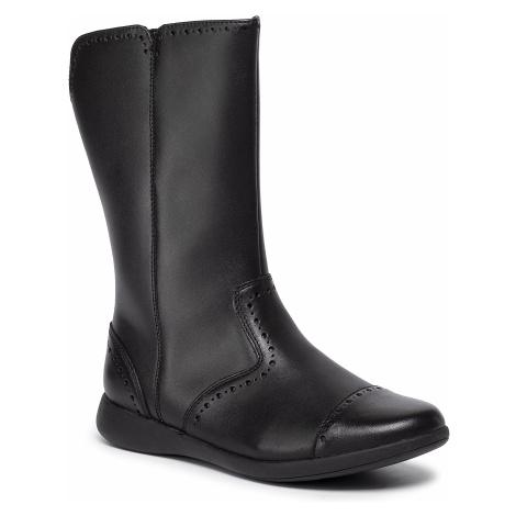 Čižmy CLARKS - Etch Stride K 261428646 Black Leather