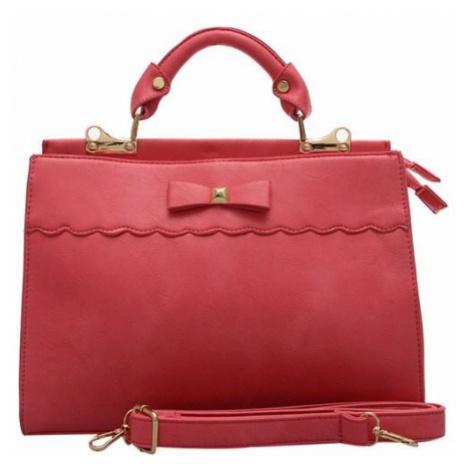 Trendy kabelka s mašličkou - ružová