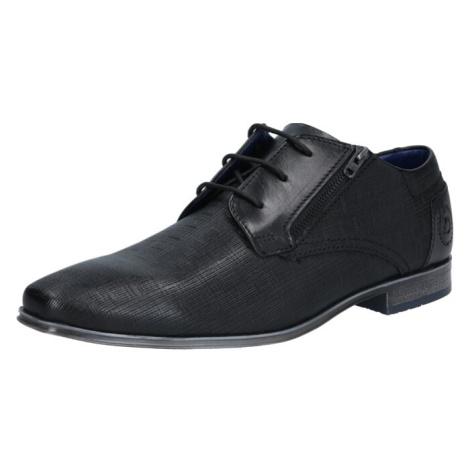 bugatti Šnurovacie topánky  čierna