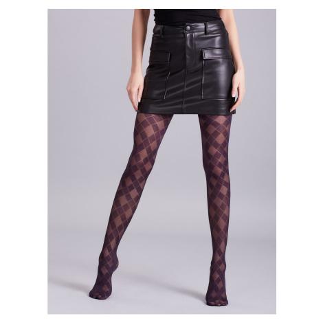 Dark purple patterned tights