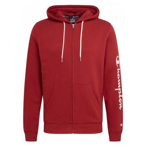 Champion Authentic Athletic Apparel Tepláková bunda  biela / vínovo červená