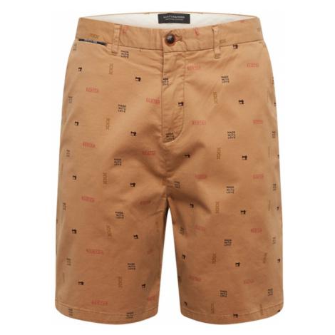 SCOTCH & SODA Chino nohavice  svetlohnedá