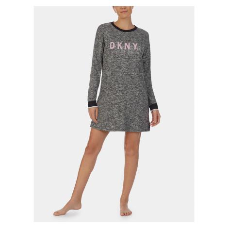 Šedá žíhaná nočná košeľa DKNY
