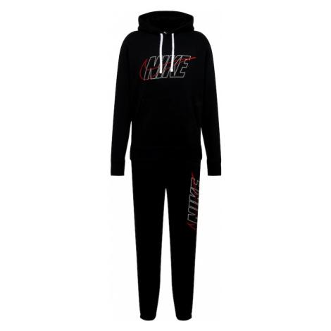 Nike Sportswear Joggingová súprava  červená / čierna / biela