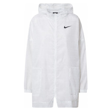 Nike Sportswear Prechodná bunda 'W NSW INDIO JKT WOVEN AOP'  biela