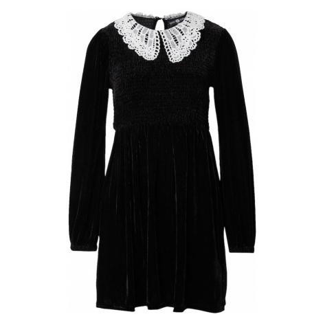 Daisy Street Košeľové šaty 'PETER PAN'  biela / čierna