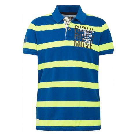 CAMP DAVID Tričko  kráľovská modrá / neónovo žltá